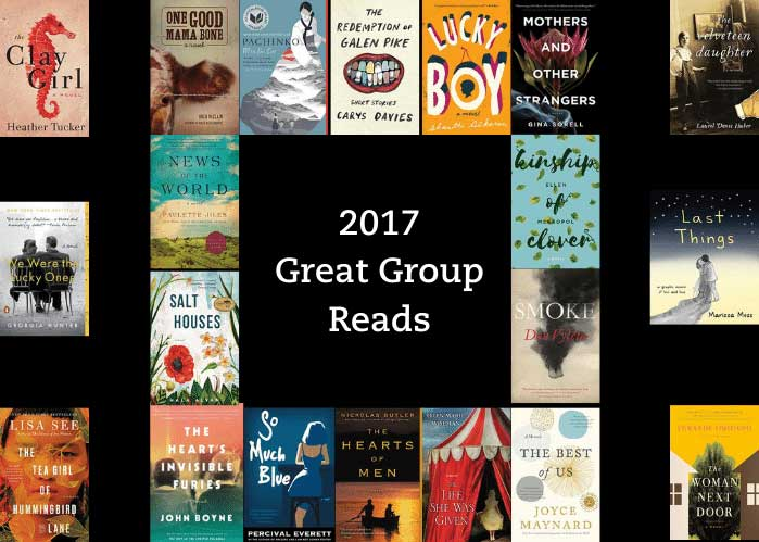 The graphic says 2017 Great Group Reads and shows the book covers for all of the books on the list.