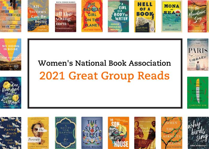 2021 Great Group Reads list shows the book covers for all 20 titles on the list.